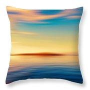 Sunset Seascape Island Throw Pillow