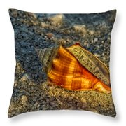 Sunset Seashell Throw Pillow
