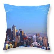 Sunset Seattle Throw Pillow