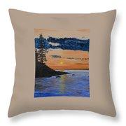 Sunset Series 1 Isle Royale Lake Superior Throw Pillow