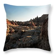 Sunset Shadows In The Badlands Throw Pillow