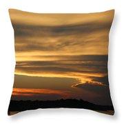 Sunset Shelbyville Throw Pillow