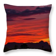 Sunset Silhouette H1816 Throw Pillow