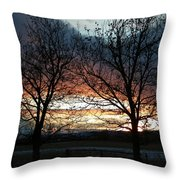 Sunset Silhouettes Throw Pillow