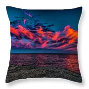 Sunset Sky At East Point Throw Pillow