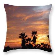 Sunset Sky Over Baja Throw Pillow