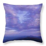 Sunset - Smoky Mountains  Throw Pillow