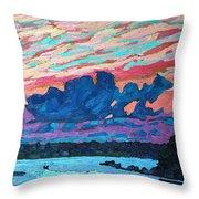 Sunset Snails Throw Pillow