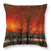 Sunset Soliloquy Throw Pillow
