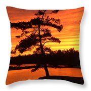 Sunset Solitude Throw Pillow