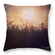 Sunset Song Throw Pillow
