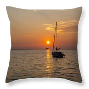 Sunset Southern Style Throw Pillow