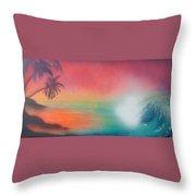 Sunset Spray Throw Pillow