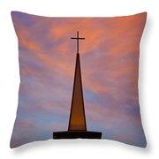 Sunset Steeple Throw Pillow