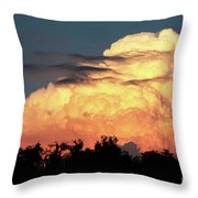 Sunset Storm Clouds Over The Marsh Throw Pillow