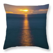 Sunset Streaks Throw Pillow