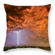 Sunset Strike Throw Pillow