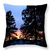 Sunset Strip Throw Pillow