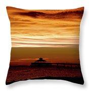 Sunset Stroll Along The Beach 2582 H_2 Throw Pillow
