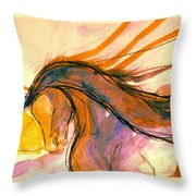 Sunset Submission Throw Pillow