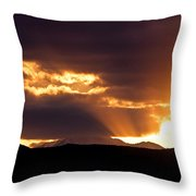 Sunset Sunbeams Throw Pillow