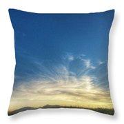 Sunset Swirl Throw Pillow