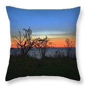 Sunset Through The Branches Throw Pillow