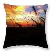 Sunset Through The Sea Grass Throw Pillow