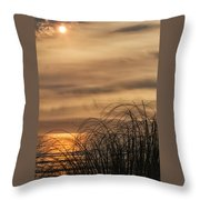 Sunset Through The Seagrass Throw Pillow