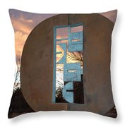 Sunset Thru Art Throw Pillow