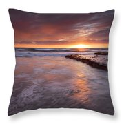 Sunset Tides Throw Pillow
