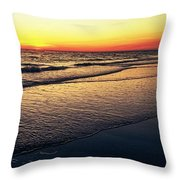 Sunset Time On Sunset Beach Throw Pillow