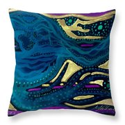 Sunset To Moonset Reversed Throw Pillow
