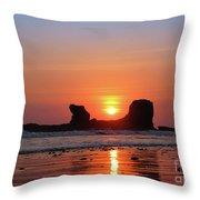 Sunset To Remeber  Throw Pillow