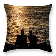 Sunset Together In Key West Throw Pillow