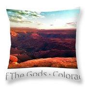 Sunset Tour Valley Of The Gods Utah Pan 09 Text Throw Pillow
