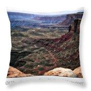 Sunset Tour Valley Of The Gods Utah Text 04 Throw Pillow