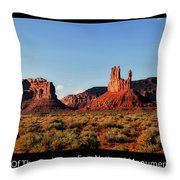 Sunset Tour Valley Of The Gods Utah Text 09 Black Throw Pillow
