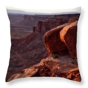 Sunset Tour Valley Of The Gods Utah Vertical 01 Throw Pillow