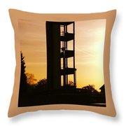 Sunset Tower Throw Pillow