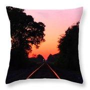 Sunset Track Throw Pillow
