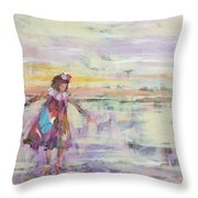 Sunset Twirling Throw Pillow