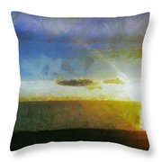 Sunset Under The Clouds Throw Pillow