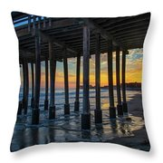 Sunset Under The Ventura Pier Throw Pillow