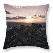 Sunset Valley Of The Gods Utah 01 B Throw Pillow