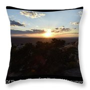 Sunset Valley Of The Gods Utah 01 Text Black Throw Pillow
