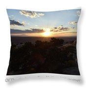 Sunset Valley Of The Gods Utah 01 Text Throw Pillow