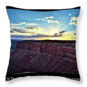 Sunset Valley Of The Gods Utah 03 Text Black Throw Pillow