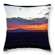 Sunset Valley Of The Gods Utah 05 Text Black Throw Pillow