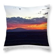 Sunset Valley Of The Gods Utah 05 Text Throw Pillow